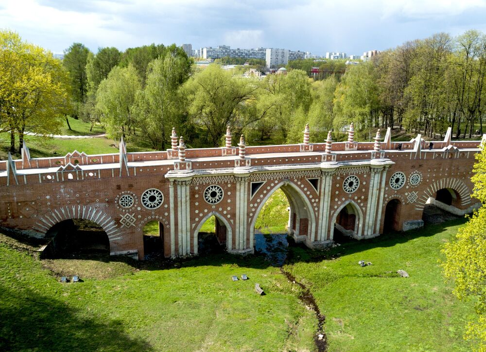 Le musée-réserve Tsaritsyno vu du ciel