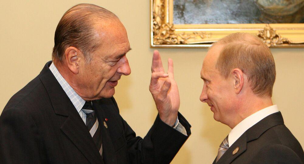 Jacques Chirac et Vladimir Poutine. Archive photo