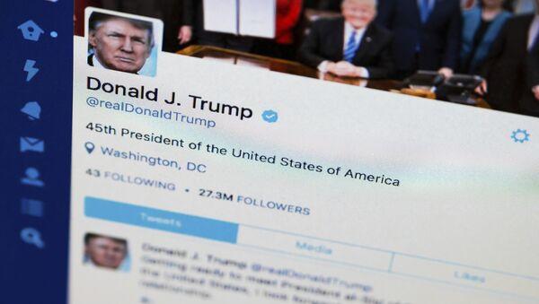 Donald Trump sur son compte Twitter - Sputnik France