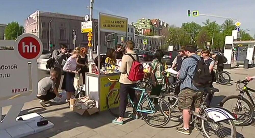 L'action «Au travail à vélo» attire plus de 10.000 Moscovites