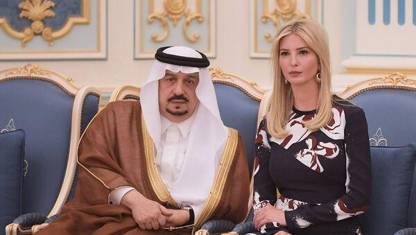 Ivanka Trump et roi Salmane ben Abdelaziz Al Saoud - Sputnik France