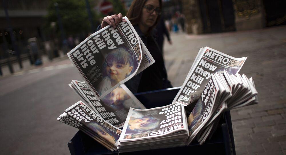 Un journal avec l'attentat de manchester à la Une