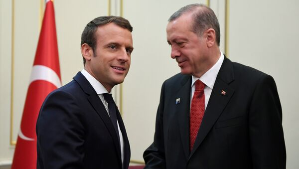 Emmanuel Macron et Recep Tayyip Erdogan - Sputnik France