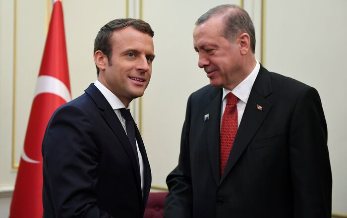 Emmanuel Macron et Recep Tayyip Erdogan