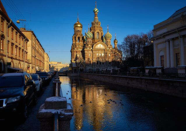 La cathédrale Saint-Sauveur-sur-le-Sang-Versé à Saint-Pétersbourg
