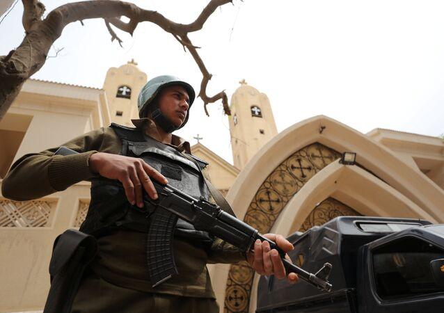 Police en Égypte. Photo d'archive