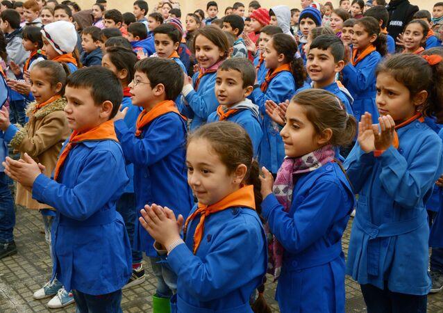 Élèves d'une école de la province de Lattaquié. Image d'illustration