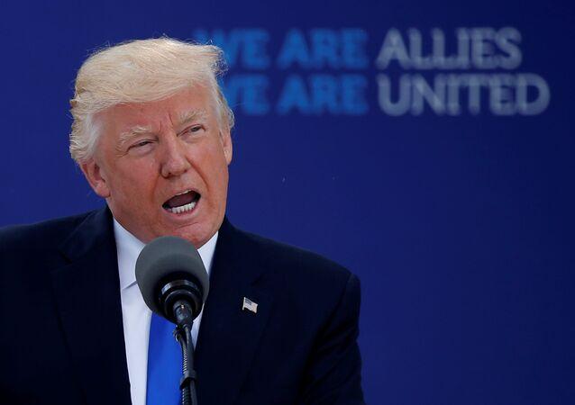 Donald Trump lors du sommet de l'Otan à Bruxelles
