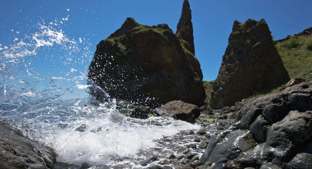 A bord de la mer Noire, en Crimée