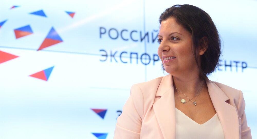 La rédactrice en chef de RT et Sputnik, Margarita Simonian