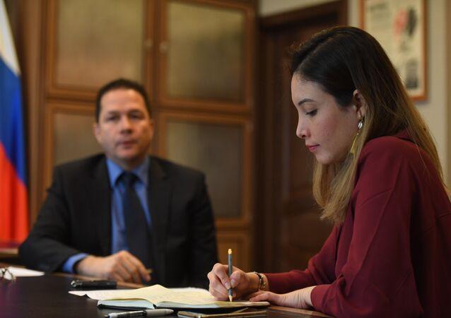 Le chef de la mission diplomatique du Venezuela à Moscou, Carlos Rafael Faria Tortosa