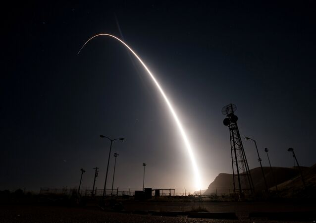 Un tir d'essai du missile Minuteman III (photo d'archives)