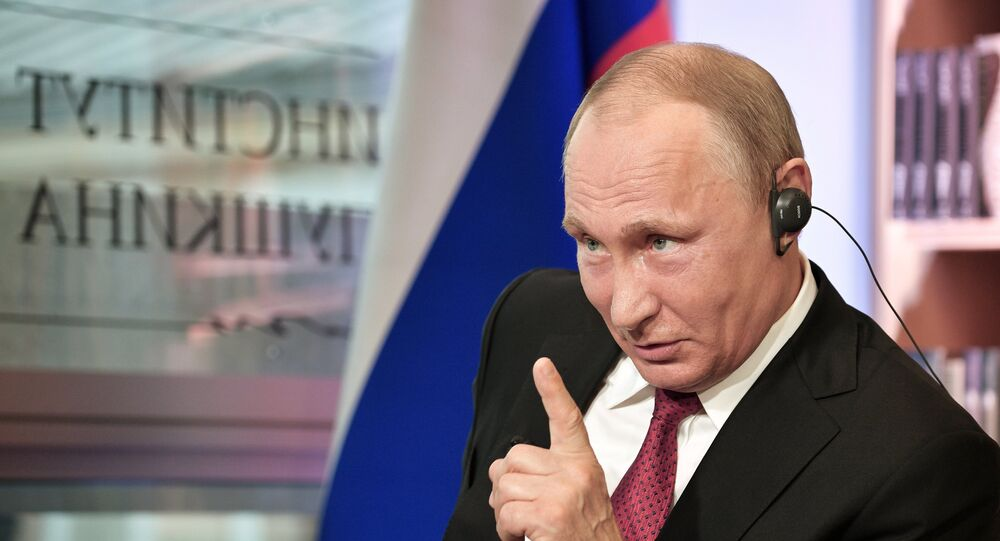 Poutine lors d'une interview au Figaro