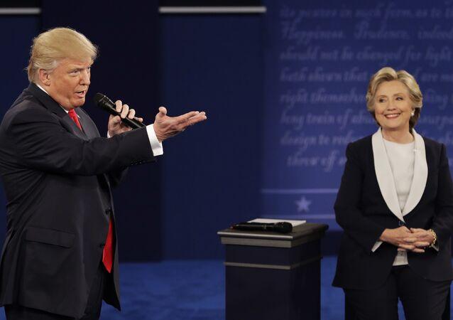 Donald Trump et Hillary Clinton. Archive photo