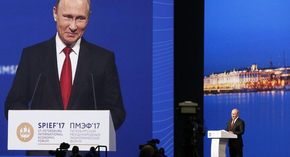 Vladimir Poutine au Forum économique international de Saint-Pétersbourg