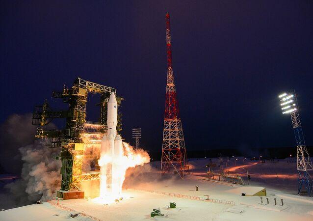 Le lancement d'essai de la fusée Angara-A5 sur le cosmodrome de Plesetsk dans la région d'Arkhangelsk