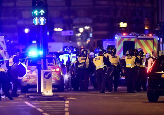 La police sur le London Bridge