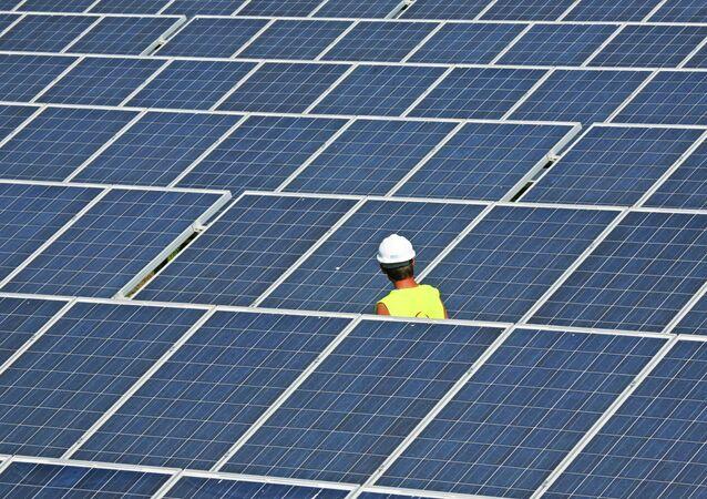 Une centrale solaire
