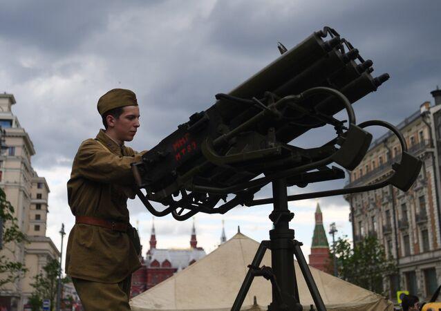 Reconstitution historique au centre de Moscou