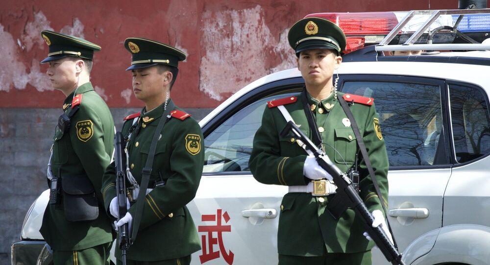 police, Chine, image d'illustration