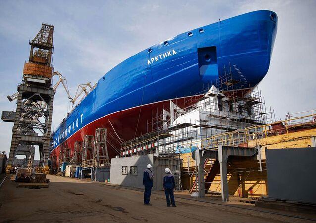 Le brise-glaces atomique russe Arktika (projet 22220 LK-60)