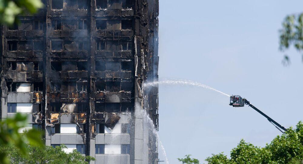 Incendie dans une tour d'habitation à Londres