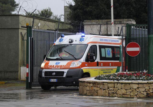 Une ambulance en Italie
