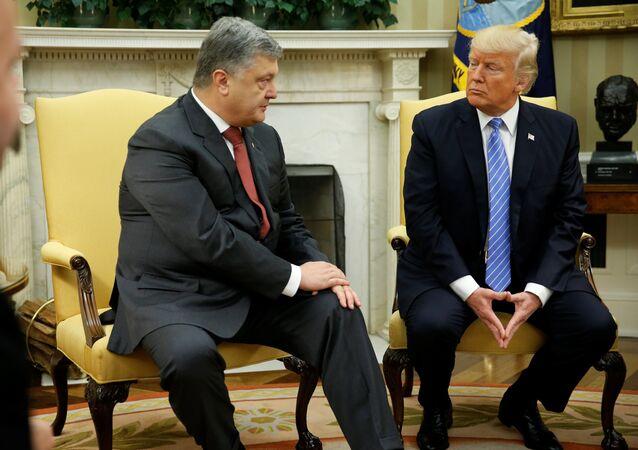 Petro Porochenko et Donald Trump