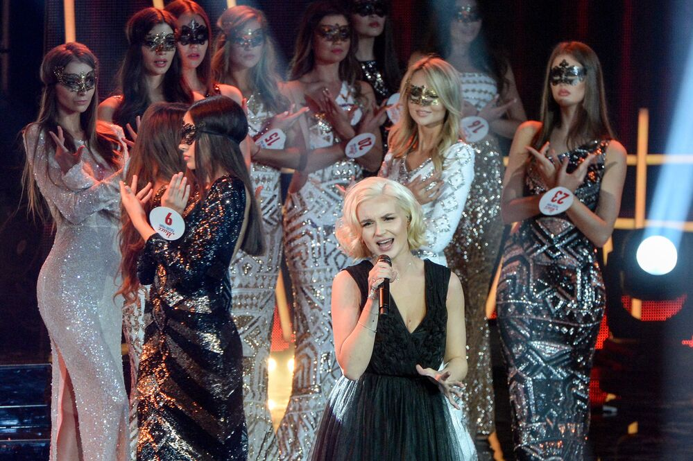 Les finalistes du concours de beauté Miss Russkoe Radio