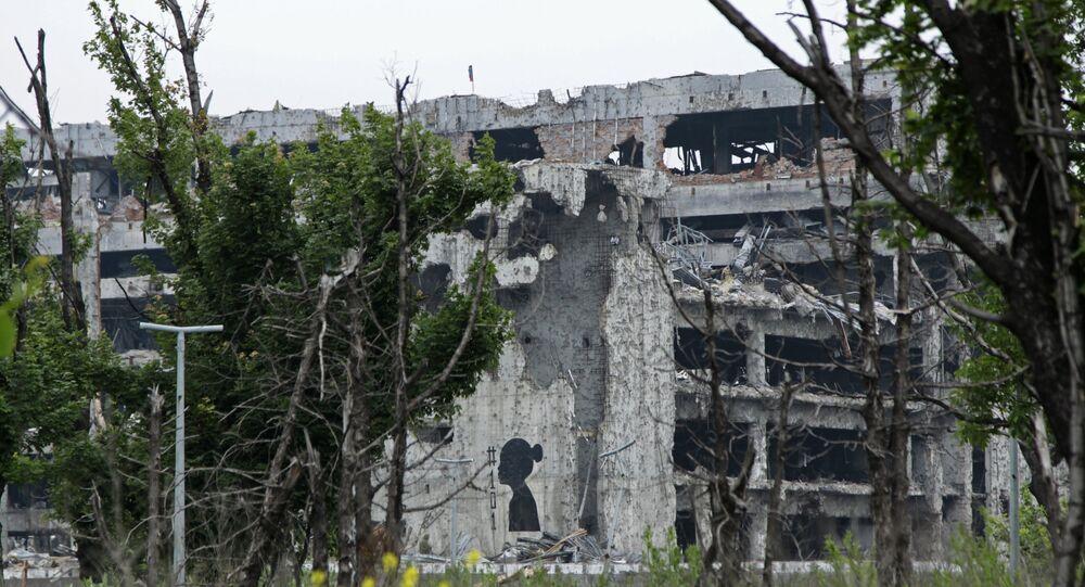 Graffiti, symbolisant les enfants tués pendant le conflit dans le Donbass