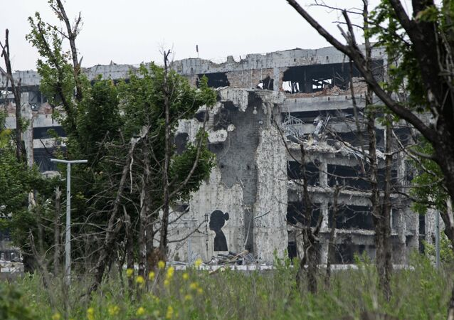 Destructions dans le Donbass