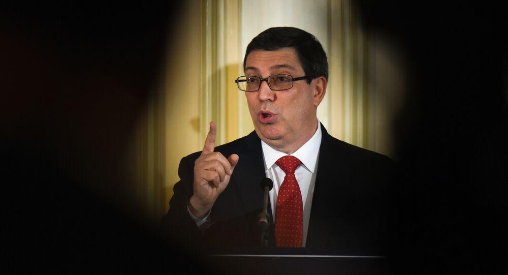 le ministre cubain des Affaires étrangères Bruno Rodriguez Parrilla