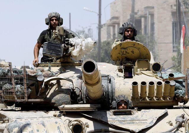 Les militaires irakiens à Mossoul