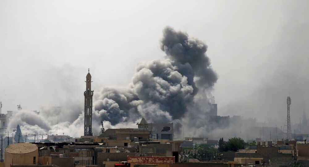 La ville de Mossoul en fumée