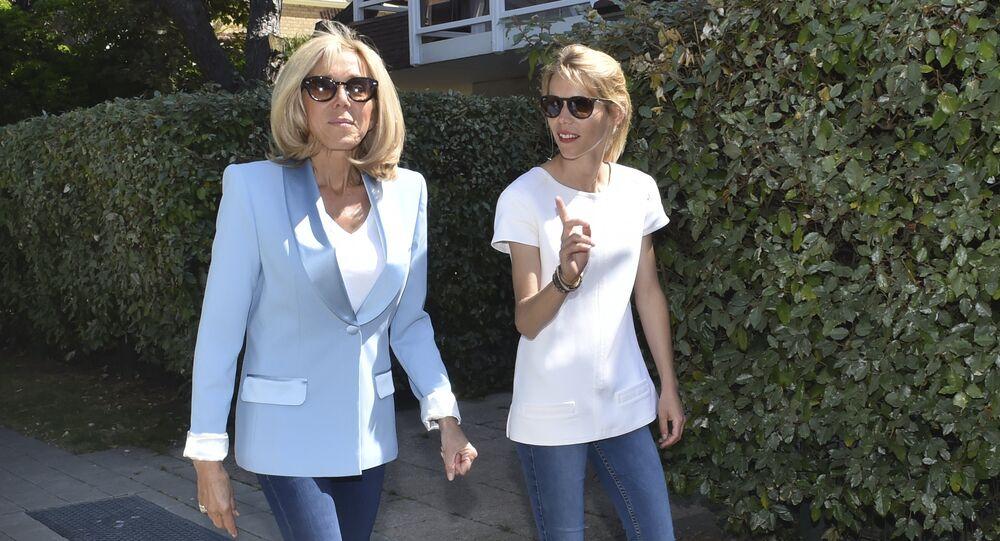 Brigitte Macron et Tiphaine Auzière
