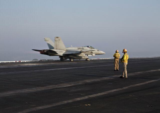 Un avion US décolle pour une mission en Syrie ou en Irak (archives)