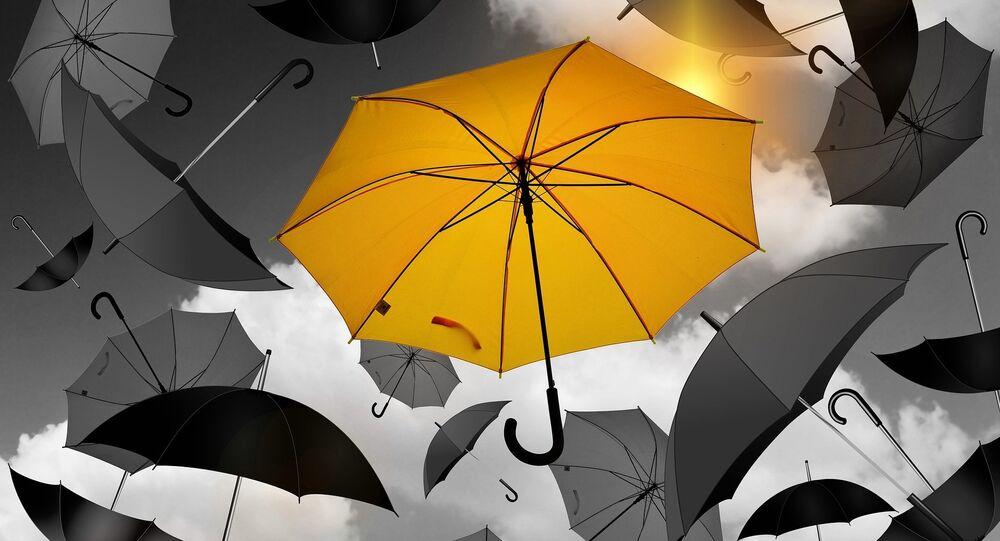 Des parapluies