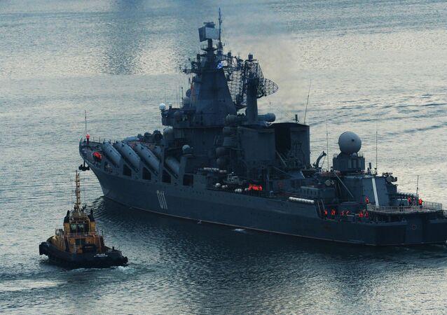Un croiseur lance-missiles russe