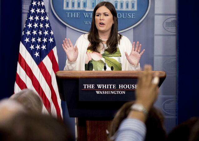 La porte-parole de la Maison-Blanche Sarah Sanders