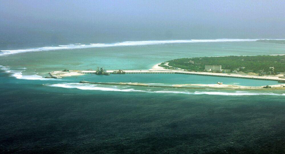 Vue d'une île dans l'archipel des Paracels