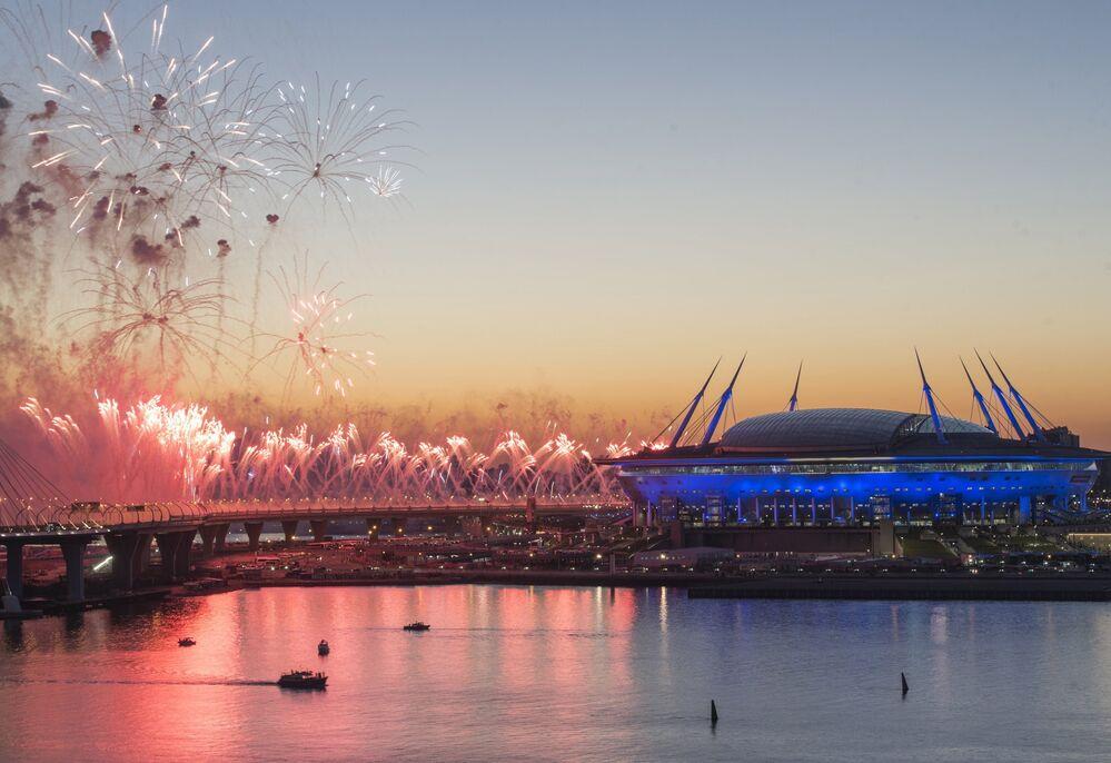 La cérémonie de clôture de la Coupe des Confédérations 2017