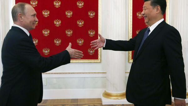 Le président russe Vladimir Poutine et son homologue chinoise Xi Jinping - Sputnik France