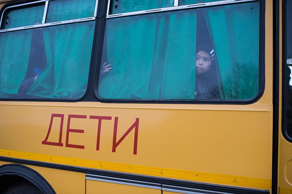 La short list du concours photo Andreï Sténine.  La route de l'école d'Aïdar Koldachev