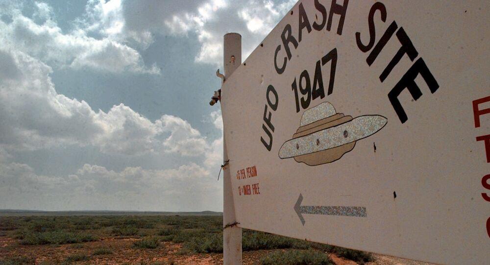 Le lieu du crash présumé d'un engin extraterrestre entre Roswell et Corona au Nouveau-Mexique