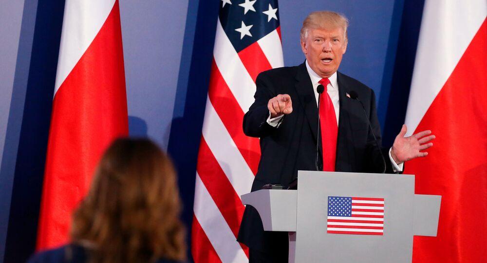 Donald Trump en Pologne