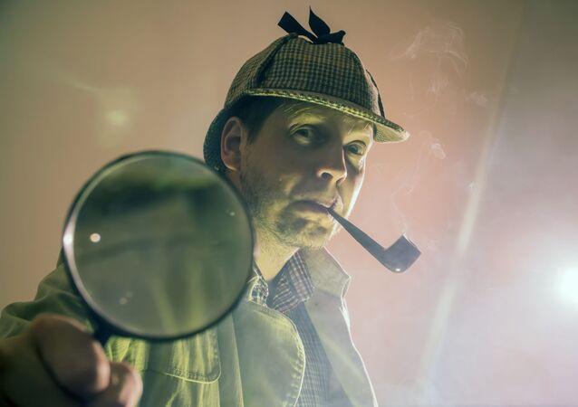 Un détective. Image d'illustration