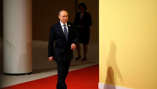 Russia's President Vladimir Putin arrives at the G20 summit in Hamburg, Germany July 7, 2017. - Sputnik France