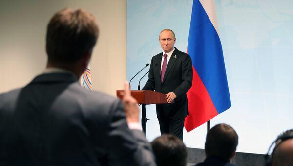Poutine plaisante à propos de son tête-à-tête avec Trump - Sputnik France