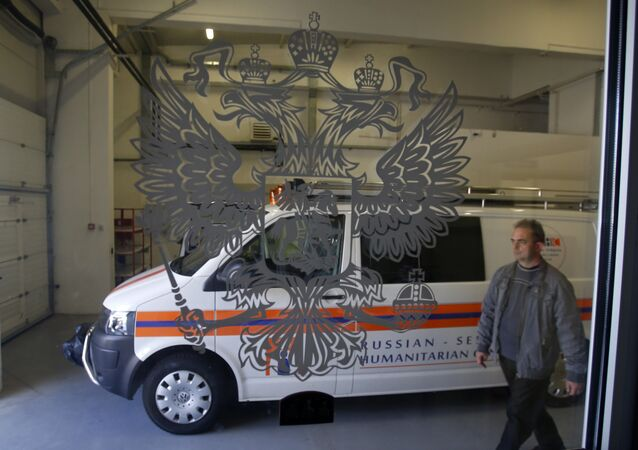 Le Centre humanitaire russo-serbe pour les situations d'urgence de Nis, ville du sud de la Serbie