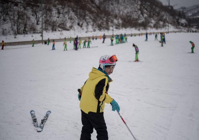 Station de ski en Corée du Nord. Archive photo